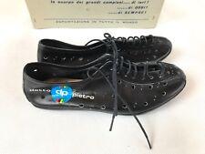 NOS Vintage Detto Pietro size 36 black leather cycling shoes L'eroica