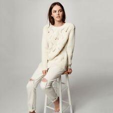 NWT Club Monaco Beige Rydel Sweater Size Small $ 250