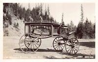 Technical Postcard Red Jammer Construction Glacier National Park MT Car Auto