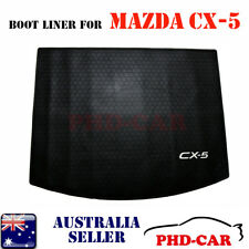 Premium Quality Mazda CX-5 Tailor Made rubber Cargo Tray Boot Liner White Logo