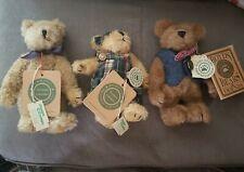 Lot Of 3 Vintage Stuffed Boyds Bears w/ original tags