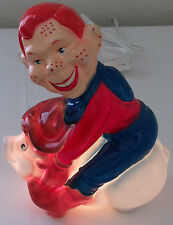 Vintage Lamps Howdy Doody Night Light Table Top Porcelain Nite Lite Lamps Works
