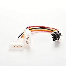 Dual(2x)Molex (4 Pin) to PCI-E (6 Pin) Power Converter Adapter.Connector.Cable W