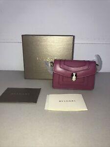 Bvlgari Pink/purple Serpenti Forever Wallet On Chain RRP £650 BNIB