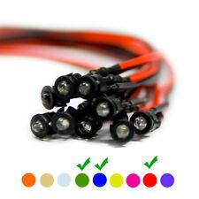 50 pezzi cablate PRE WIRED diodi led VERDE LENTE CHIARA 9v 1.8mm