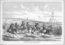 Sardinien, Bauern, Original-Holzstich von 1876