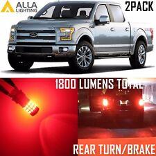 Alla Lighting Rear Turn Signal Light /Brake Stop Blinker Bulb Red LED for Ford