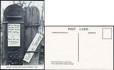 GB POST BOX BIRDS NESTING...CHIDDINGFOLD SURREY 1987...LBSG No.43 POSTCARD