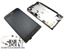 Original HTC ONE V LCD Display Cover Glas Gehäuse Front komplett schwarz