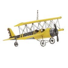 Metal Bi-Plane Airplane Model Toy Replica - Yellow