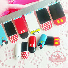 Mickey Mouse black red one set of Full Nail polish strips wraps sticker Manicure