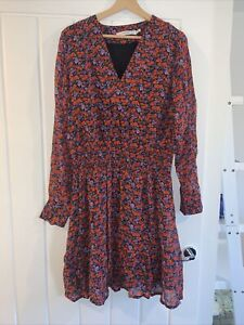 Gestuz Red And Purple Floral Dress Uk 10