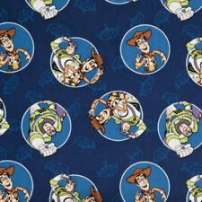 Toy Story blue  cotton crib fitted sheet