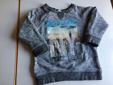 Baby Boy Sweatshirt 12-18m H&m New York Longsleeve Grey