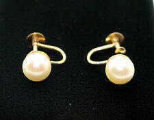 9 Carat Pearl Yellow Gold Vintage Fine Jewellery (1960s)