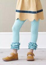 New Matilda Jane Secret Fields Cyan Ruffle  LEGGINGS Size 10 Tween NWT