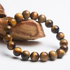 8MM Natural Color Tiger Eye Stone Gemstone Beads Men Jewelry Bracelet Bangle #2
