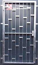 Gittertür Feuerverzinkt Einbruchschutz auf Maß - Modell Platte