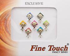Bindi bijoux de peau front multicolore et strass 14mm dot tilak INH-2-B16