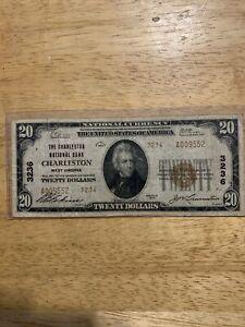 Twenty Dollar $20 Series 1929 National Currency Charleston NB