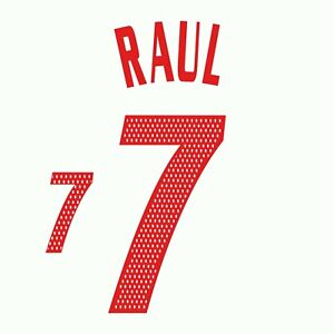 Raul 7. Spain Away football shirt 2004 - 2006 FLEX NAMESET NAME SET PRINT