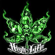 "2.5"" Marijuana sticker / decal. HIGH LIFE IN SMOKE. 420, Glass Bong, Pot, Pipe."