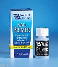 No Lift Nails Nail Primer for Acrylics or UV Gels Preps Nails .75 oz.
