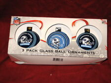 Tennessee Titans 3 inch Glass Ornament Balls 3 Pack New