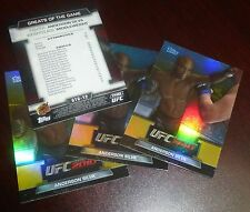 Anderson Silva UFC 2010 Topps Greats of the Game Insert Card #12 153 148 126 117