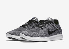 0473a0793a67 Nike RN Flyknit Mens 831069-100 White Black Running Shoes Size 13