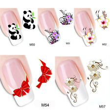 5PC/ Set DIY Flowers Water Transfer Nail Art Stickers Nail Decals