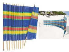 10 POLE WINDBREAK WIND BREAK WINDBREAKER 20FT L SCREEN SUN BEACH SHELTER CAMPING