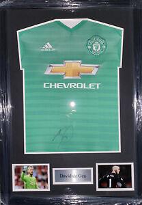 Signed Framed David De Gea Manchester United Goalkeeper Shirt Spain Atletico