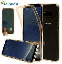 COQUE ANTICHOC Intégrale Semi-Rigide FULL COVER Doré / SAMSUNG Galaxy S8