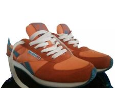 Rebook Classic Leather Sneakers Orange And Blue Size 8.5 Womens