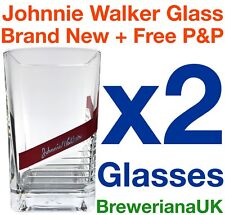 Set Of 2 Johnnie Walker Red Label 28cl Whiskey Glasses Brand New 100% Genuine