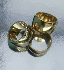 Danish Design ASMUSSEN Napkin Serviette Rings 24ct Gold Plated 1960s