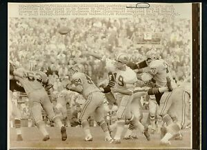 Bill Munson 1970 Press Photo Chicago Bears vs. Detroit Lions