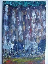 Belle peinture 33X22 huile signée Berge France sur carton toile apprêt universel