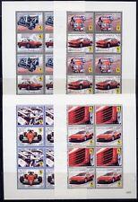 Dominica 2010 Ferrari Motorsport Cars Autos Oldtimer 4058-65 Kleinbögen ** MNH