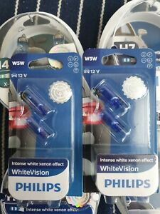 W5W  WHITEVISION 501 PHILIPS SIDELIGHT BULBS x 100 bulbs job lot