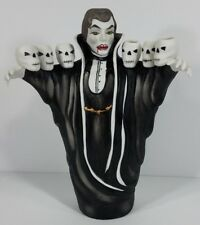 Celebrations by Silvestri ceramic Vampire w/ Skulls 10 inch candle holder statue