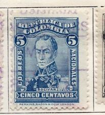 Colombia 1917 Early Issue Fine Used 5c. 139735