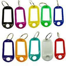 Key Tags Plastic Key Rings ID Tags Name Label Key Fob Tag - Choose Your Colour