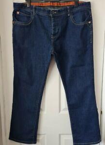 Vintage Lebreve Vincent Style Indigo Blue Straight Jeaans Size 42w 30L