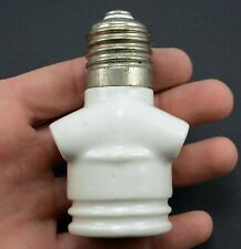 Screw light holder 2 socket adapter vintage porcelain 250v