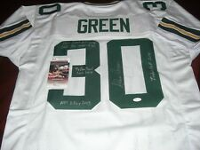 08798e4e8 AHMAN GREEN GREEN BAY PACKERS FULL STATS JSA COA SIGNED JERSEY
