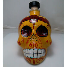 New Empty Skull Head Glass Bottle Whiskey Vodka Shot home Bar Decanter 750ml
