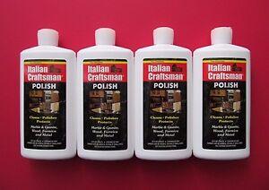 Granite and Marble Polish Italian Craftsman Polish 4-16 OZ Bottles FREE SHIPPING