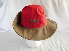 Outdoor Research OR Sombrero Rain Sun Hat Cap Small Red Brown